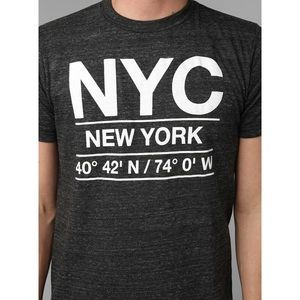 Urban Outfitters Deter Grey NYC Graphic Tee